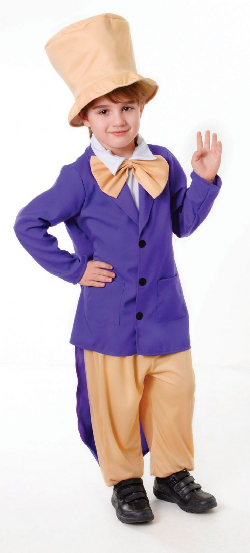 Boys Chocolate Factory Boss Costume Wonka Fancy Dress Outfit